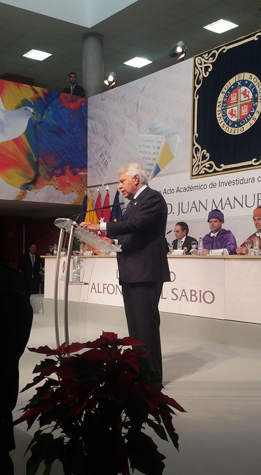 felipe gonzalez nombramiento honoris causa